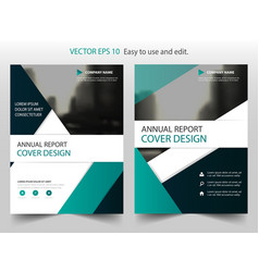green black abstract triangle annual report vector image