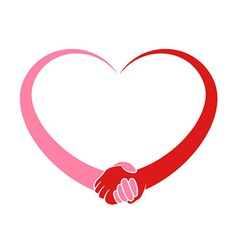 Heart Holding Hands vector image