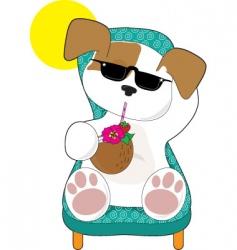 cute puppy holiday vector image vector image