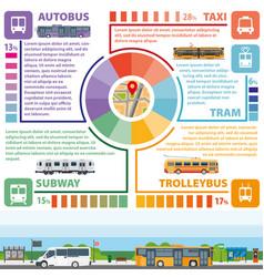 passenger public transport infographics vector image