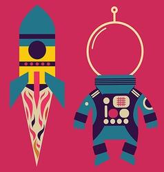 Rocket and astronaut costume vector