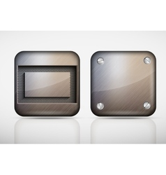 Steel metal app icons vector image