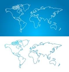 world map concept Contour vector image