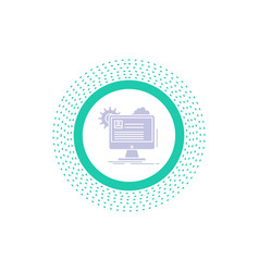 account profile report edit update glyph icon vector image