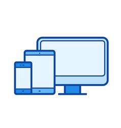 Adaptive web design line icon vector