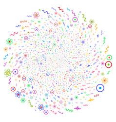Atomic physics swirl bang vector