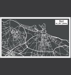 Bari italy city map in retro style vector