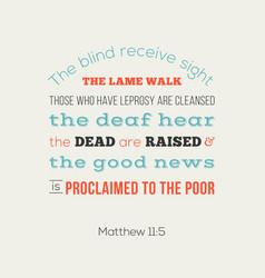 bible verse from matthew 11 vector image