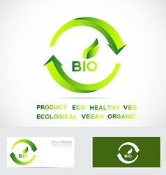 Bio eco badge vector image