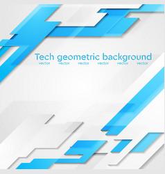 Blue grey hi-tech geometric bright vector