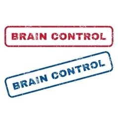 Brain Control Rubber Stamps vector image