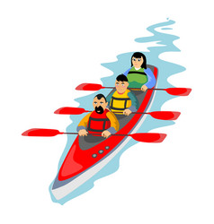 Canoeing water extreme sports isolated design vector