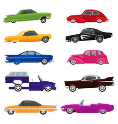 Car vintage low rider auto and retro old vector