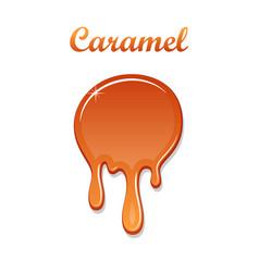 caramel drop 3d realistic melted sauce vector image
