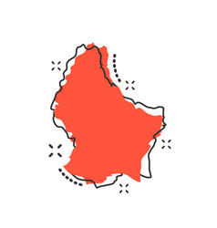 Cartoon luxembourg map icon in comic style vector