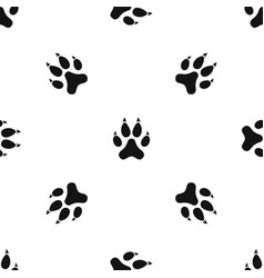 Cat paw pattern seamless black vector
