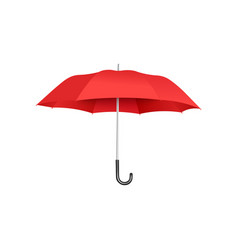 classic open red umbrella floating isolated on vector image