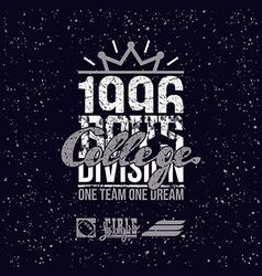 college sport division emblem vector image