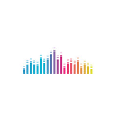 colorful music bars visualization graphic design vector image