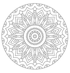 Coloring book for adult with mandala outline vector