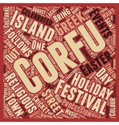 Corfu s Fabulous Festivals text background vector