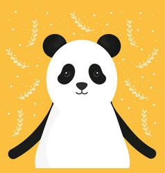 cute bear panda adorable character vector image