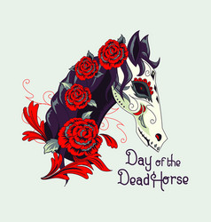 day dead horse vector image