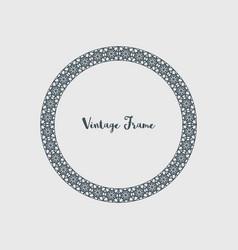 decorative circle frame vector image