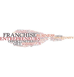 Entrepreneur franchise opportunity text vector