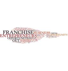 entrepreneur franchise opportunity text vector image