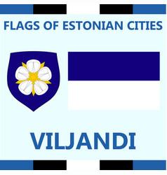 Flag of estonian city viljandi vector