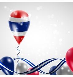 Flag of Thailand on balloon vector
