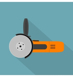 Flat angle grinder vector