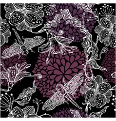 flower hand drawn seamless 3 380 vector image