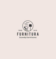 furniture interior logo icon vector image