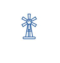 garden windmill line icon concept garden windmill vector image