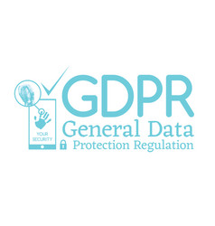 General data protection regulation gdpr compliance vector