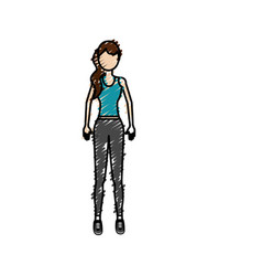 healthy woman with clothes to do exercise vector image