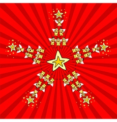 Kids Christmas Star vector image