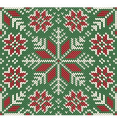 Knitted Seamless Christmas pattern vector image