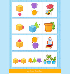 Logical rows for kids vector