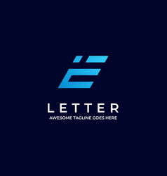 Logo abstract letter e colorful style vector