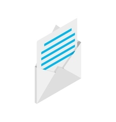 Mail icon isometric 3d style vector