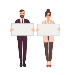 male and female managers clerks or office workers vector image