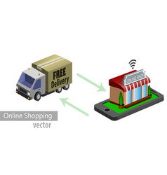 mobile shopping e-commerce vector image