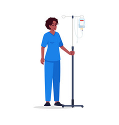nurse semi flat rgb color vector image