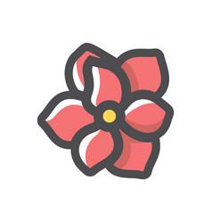Pink flower spring icon cartoon vector