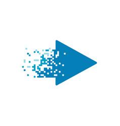 Pixel tv logo streaming media logo design vector