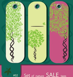 price tags with tree vector image