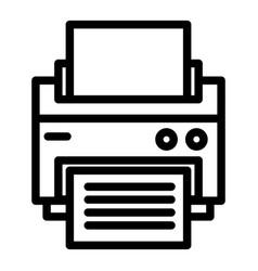 Printer line icon printout vector